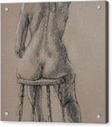 Seated Figure Acrylic Print by Sarah Parks