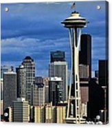 Seattle Skyline Acrylic Print by Benjamin Yeager