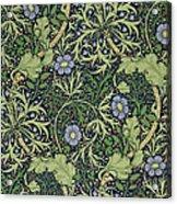 Seaweed Wallpaper Design Acrylic Print by William Morris