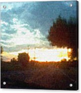 Second Sunset Acrylic Print by Pharris Art