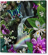 Secret Butterfly Acrylic Print by Alixandra Mullins