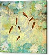 Sei Pesciolini Verdi Acrylic Print by Guido Borelli