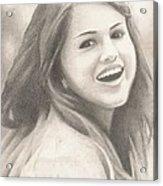 Selena Gomez Acrylic Print by Kendra Tharaldsen-Franklin