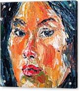Self Portrait 2013 -3 Acrylic Print by Becky Kim
