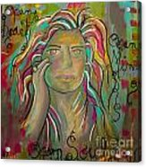Self Portrait Acrylic Print by Gina Ahrens