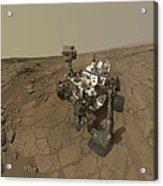 Self-portrait Of Curiosity Rover Acrylic Print by Stocktrek Images
