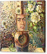 Self-portrait Our Two Parties Acrylic Print by Meruzhan Khachatryan