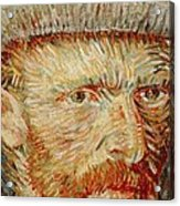 Self-portrait With Hat Acrylic Print by Vincent van Gogh
