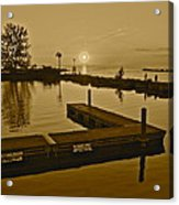 Sepia Sunset Acrylic Print by Frozen in Time Fine Art Photography