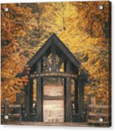 Seven Bridges Trail Head Acrylic Print by Scott Norris