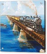 Seven Mile Bridge Acrylic Print by Christopher Jenkins