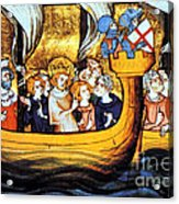Seventh Crusade 13th Century Acrylic Print by Photo Researchers