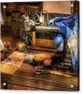 Sewing Machine  - Sewing Machine IIi Acrylic Print by Mike Savad