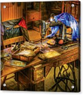 Sewing Machine  - Sewing Machine Iv Acrylic Print by Mike Savad