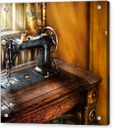 Sewing Machine  - The Sewing Machine  Acrylic Print by Mike Savad
