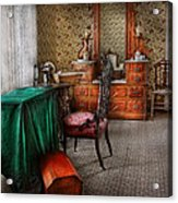 Sewing - Sewing Can Be Rewarding Acrylic Print by Mike Savad