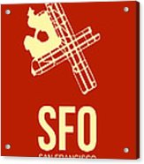 Sfo San Francisco Airport Poster 2 Acrylic Print by Naxart Studio