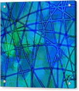 Shades Of Blue   Acrylic Print by Ann Powell