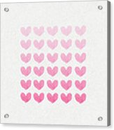 Shades Of Pink Acrylic Print by Aged Pixel