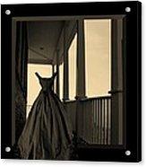 She Walks The Halls Acrylic Print by Barbara St Jean