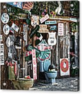 Shed Toilet Bowls And Plaques In Seligman Acrylic Print by RicardMN Photography