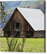 Sheep Barn Acrylic Print by Katie Wing Vigil
