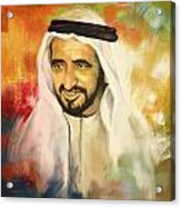 Sheikh Rashid Bin Saeed Al Maktoum Acrylic Print by Corporate Art Task Force