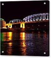 Shelby Street Bridge At Night Acrylic Print by Dan Sproul