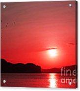 Shepherd's Delight Sunset Acrylic Print by Kaye Menner