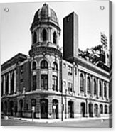 Shibe Park In Black And White Acrylic Print by Bill Cannon