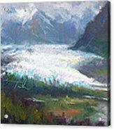 Shifting Light - Matanuska Glacier Acrylic Print by Talya Johnson