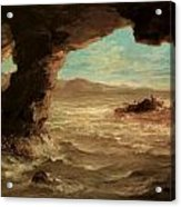 Shipwreck On The Coast Acrylic Print by Eugene Delacroix