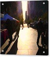 Shopping Stands Along Market Street At San Francisco's Embarcadero - 5d20842 Acrylic Print by Wingsdomain Art and Photography