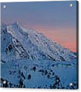 Shuksan Sunset Panorama Acrylic Print by Mike Reid