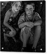 Siblings Acrylic Print by Julie Dant