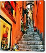 Sicilian Steps Acrylic Print by Mel Steinhauer