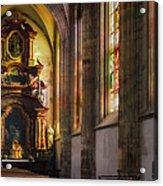 Side Chapel Of St Barbara Acrylic Print by Joan Carroll
