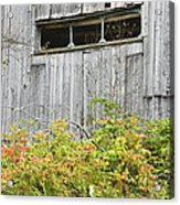 Side Of Barn In Fall Acrylic Print by Keith Webber Jr