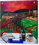 Siena Hillside Acrylic Print by Patti Schermerhorn