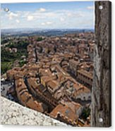 Siena From Above Acrylic Print by Al Hurley