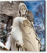 Silent Winter Angel Acrylic Print by Gothicolors Donna Snyder
