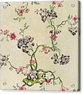 Silk Design Acrylic Print by Anna Maria Garthwaite