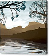 Silkscreen Acrylic Print by Cynthia Decker
