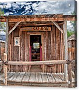 Silver Canyon Saloon Acrylic Print by Cat Connor