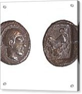 Silver Drachm 3.4 Gr From Philstia Acrylic Print by Science Photo Library