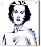 Silver Siren Acrylic Print by Wu Wei