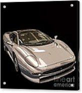 Silver Sports Car Acrylic Print by Edward Fielding