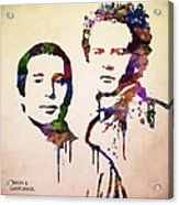 Simon And Garfunkel Acrylic Print by Aged Pixel