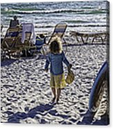 Simpler Times 2 - Miami Beach - Florida Acrylic Print by Madeline Ellis