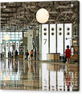 Singapore Changi Airport 02 Acrylic Print by Rick Piper Photography